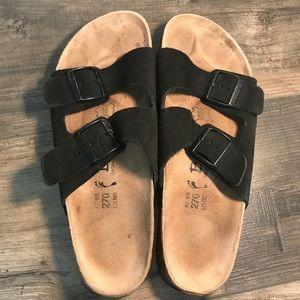 Birkenstock Arizona Black Suede Unisex Sandals 42